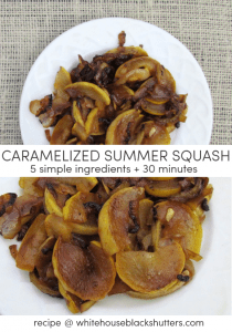 Caramelized Summer Squash and Onions, made with simple ingredients, quick, and so good you'll want it every night.