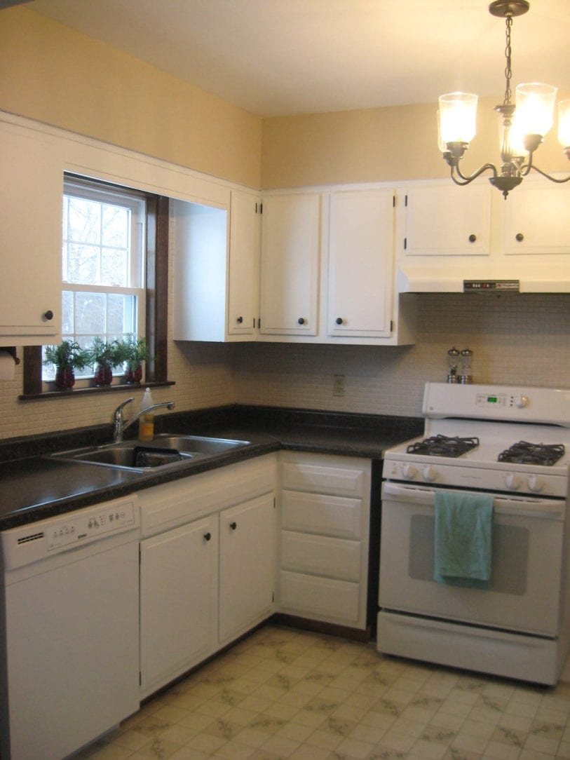 Check out my Sweet Kitchen! - white house black shutters