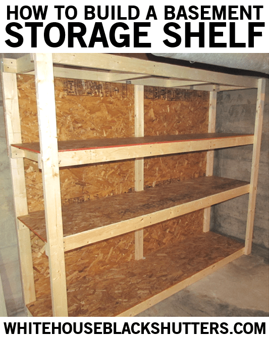 simple free standing shelf plans