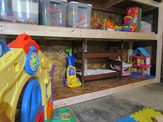 Kids Playroom In An Unfinished Basement White House