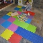 Kids' Playroom in an Unfinished Basement