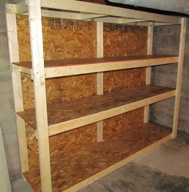 basement utility shelves plans