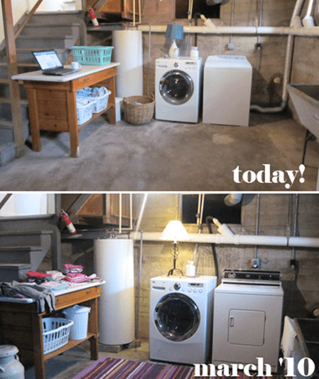 Basement Laundry Room Clean-up