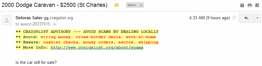 Response to an Email Spammer