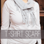 Fringed Tee Shirt Scarf