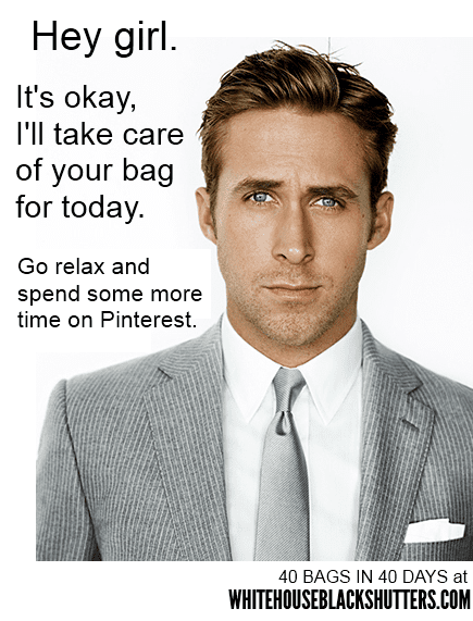 Ryan Gosling Will Take Care of your Bag Today