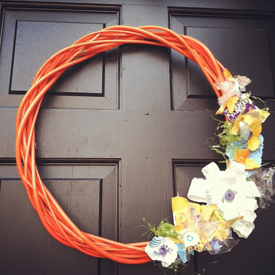 Repurposed Garbage Wreath