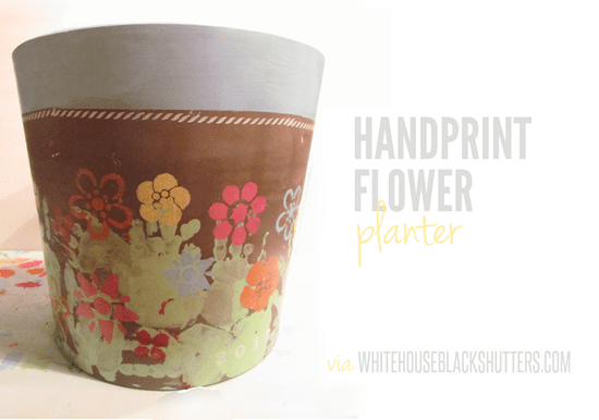 Handprint Flower Planter