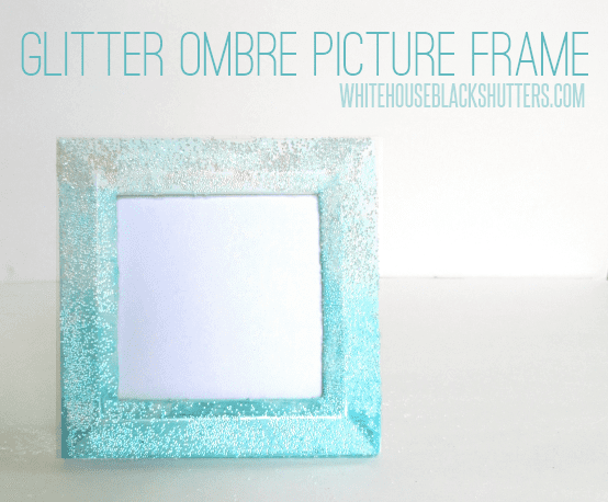 guest post glitter ombre picture frame from white house black shutters