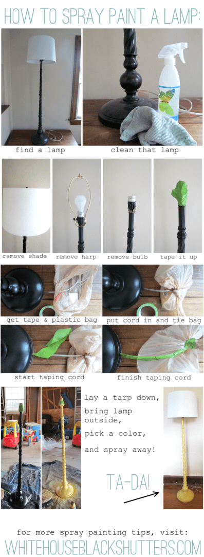 How To Spray Paint A Lamp White House Black Shutters