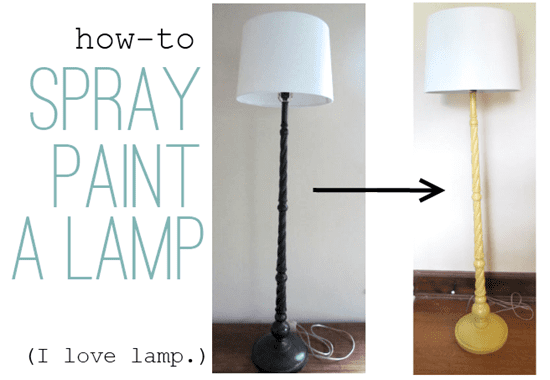 how-to-spray-paint-a-lamp
