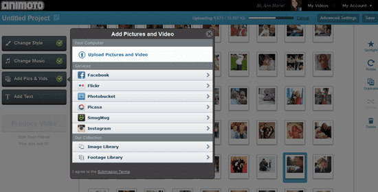Creating a Mother's Day Video with Animoto