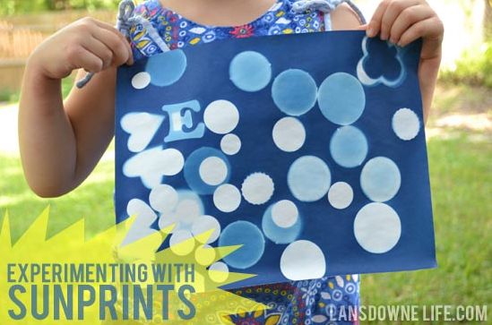 Experimenting with Sunprints