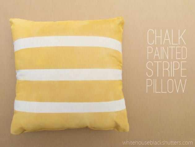 Chalk Painted Stripe Pillow