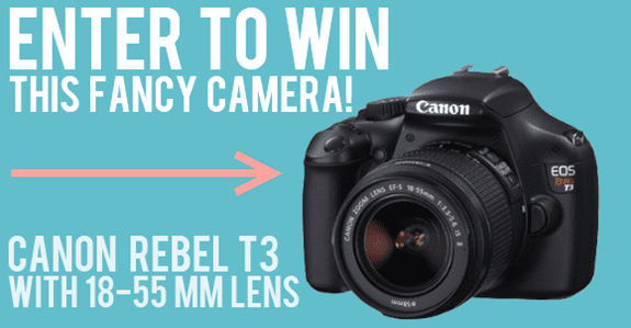 Canon Rebel T3 DSLR & Lens giveaway! (Closed)