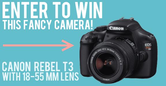Canon Rebel T3 DSLR & Lens giveaway! (Closed)