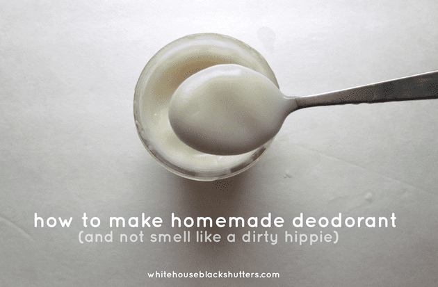 how to make homemade deodorant