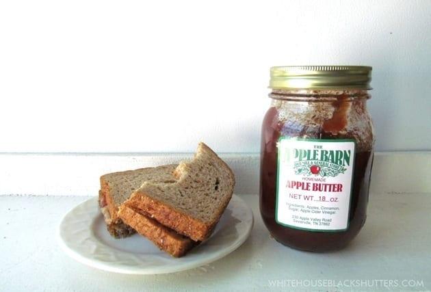 Peanut Butter and Apple Butter Sandwich