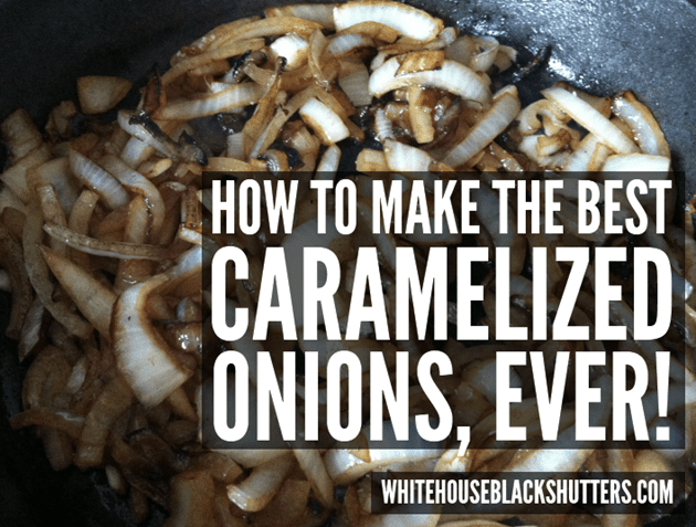 make the best caramelized onions with bacon, salt, and a cast iron pan