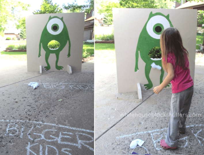 how to make a monster bean bag game. Must do this!
