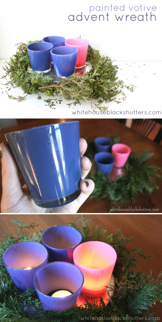 can't find purple and pink Advent candles? Make your own with this simple DIY!