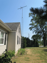 house with an antenna to save money on tv
