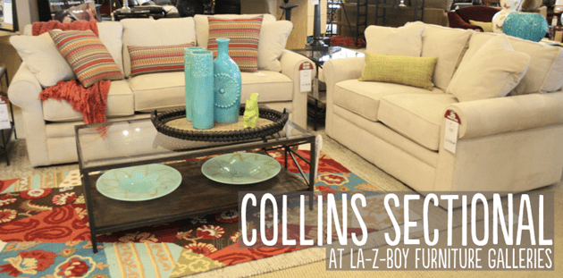 Collins Sectional at La-Z-Boy Furniture Galleries