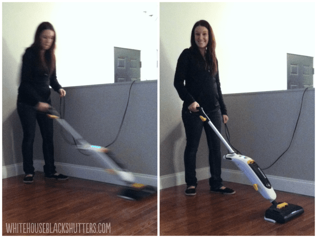 How I Clean My Hardwood Floors (with Oreck Grab-It and Steam-It)