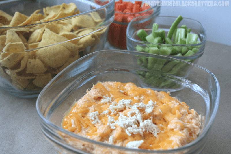 buffalo ranch wing dip with sriracha!