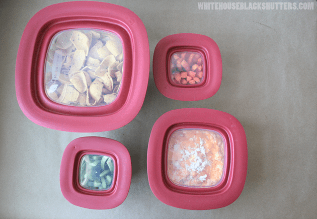 Rubbermaid Easy Find Lids glass containers make parties easier!