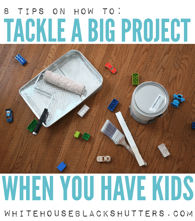 a mom of three kids under three shares her tips on tackling home projects when kids are around