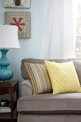 bright, colorful, and happy #MomCave with #LaZBoy and whitehouseblackshutters.com