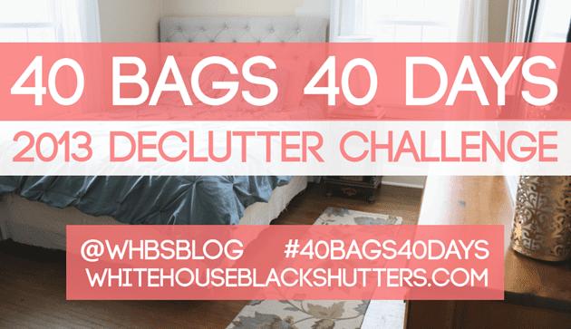 40 BAGS 40 DAYS Week Two Progress