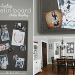 Painted Burlap Bulletin Board