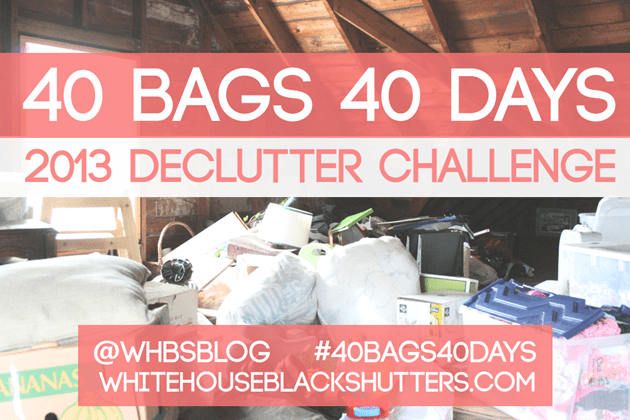 40 BAGS IN 40 DAYS 2013 Declutter Challenge