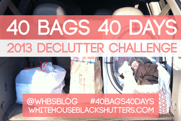 40 BAGS IN 40 DAYS decluttering challenge, week 1 progress. free #printables, private group to join. #40bags40days #organizing