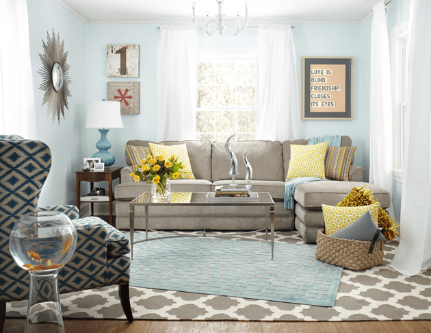bright, colorful, and happy #MomCave #before and #after with #LaZBoy and whitehouseblackshutters.com