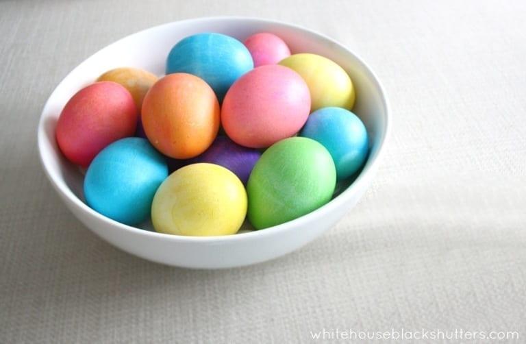 Neon Easter Egg Tips - white house black shutters