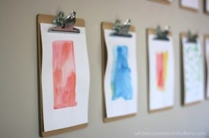 need to do this! simple and inexpensive gallery wall with clipboards! via @whbsblog