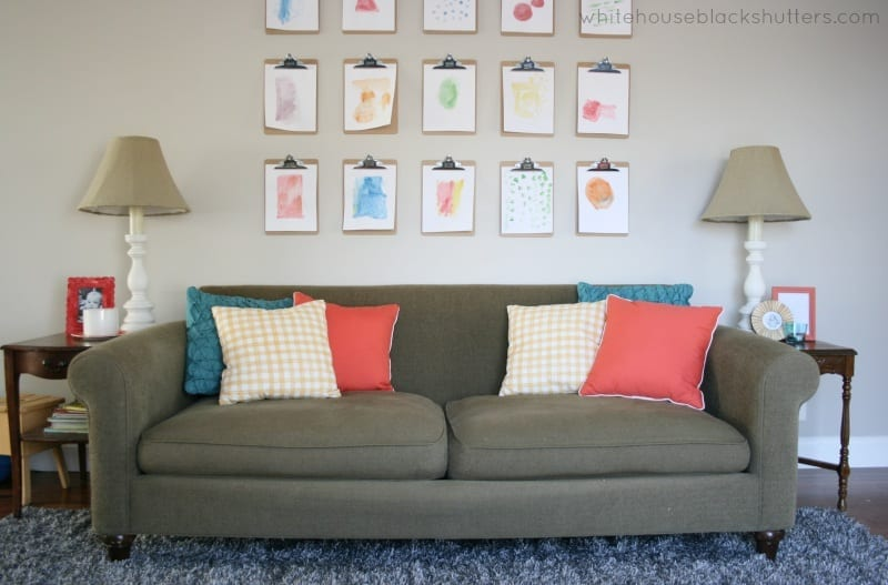 refresh your home with a simple pillow change, love this idea! via @whbsblog
