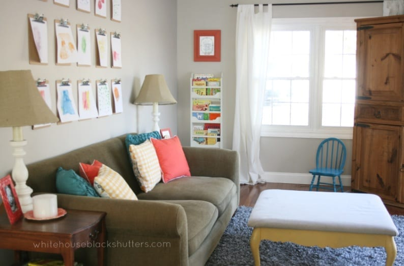 Family Room Spring Refresh