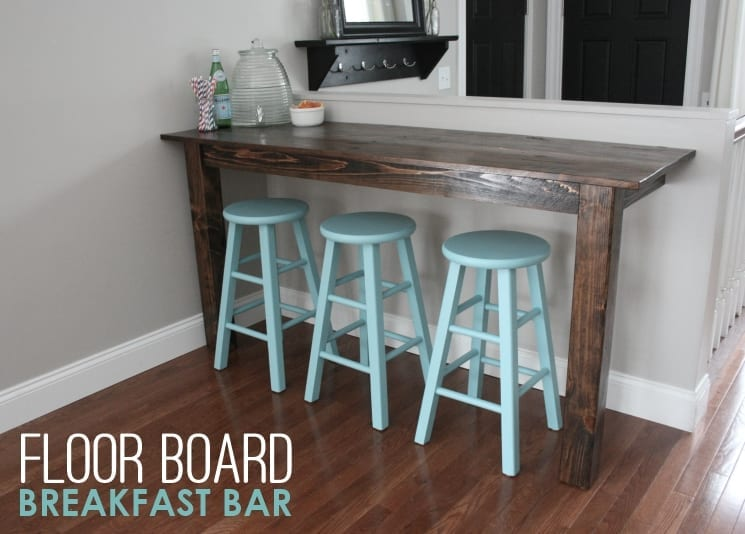 whitehouseblackshutters.com: 77 year old floor boards were #upcycled to make this rustic breakfast bar!
