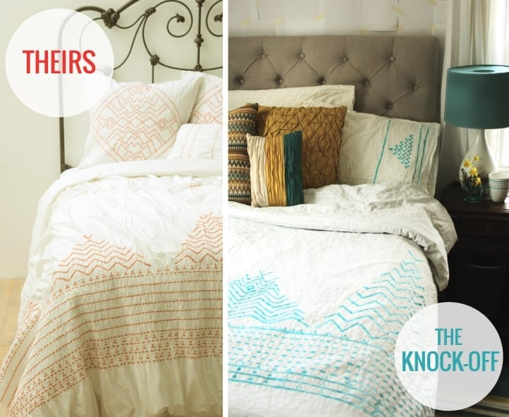 no-sew Anthropologie Corin Duvet knockoff