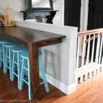 diy breakfast bar made from 70-year-old wood
