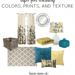 decorating tips for mixing colors, prints, and texture