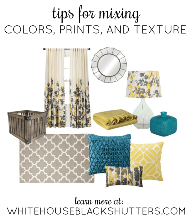whitehouseblackshutters.com: Tips for mixing color prints, and texture in a room! #TargetStyle