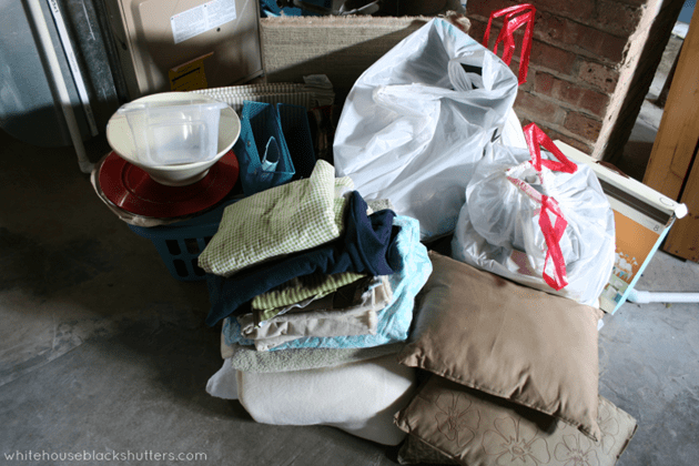 40 bags in 40 days - decluttering one small spot at a time