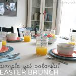 Color Blocked Easter Brunch Tablescape