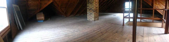 unfinished attic, what a beautiful space!