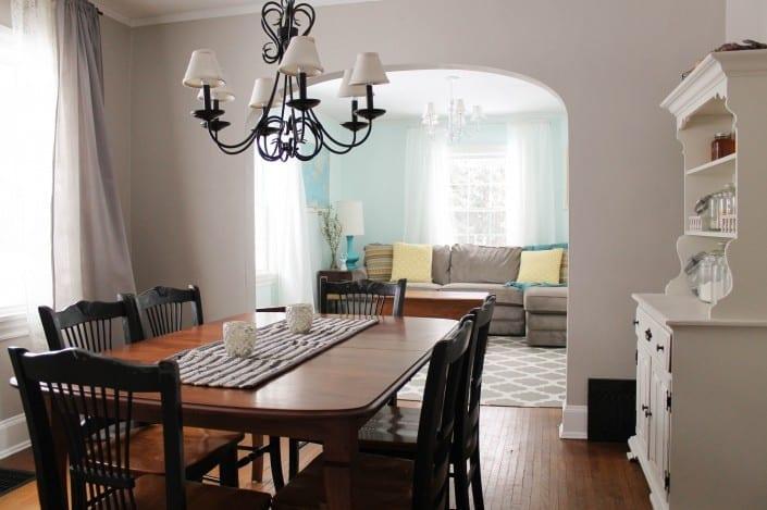 I love this idea! Unused living room turned mom cave. So pretty!